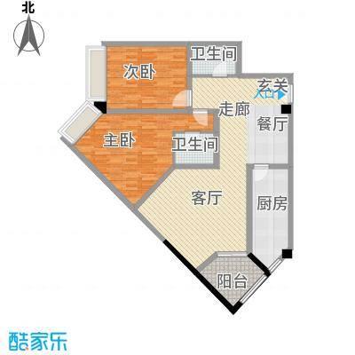 上海东方花苑113.64㎡2面积11364m户型