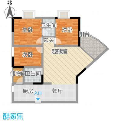 巴蜀怡苑90.00㎡A-1/4B-42面积9000m户型