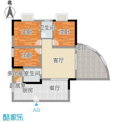 巴蜀怡苑88.50㎡A-5A-8面积8850m户型