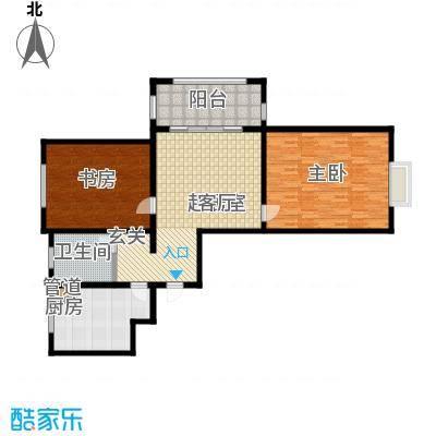 北宸新苑128.00㎡二期7、9、11号楼标准层A户型