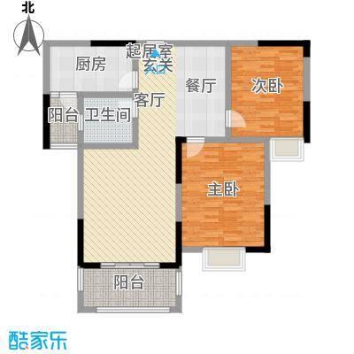 北宸新苑104.00㎡二期7、9、11号楼标准层D户型