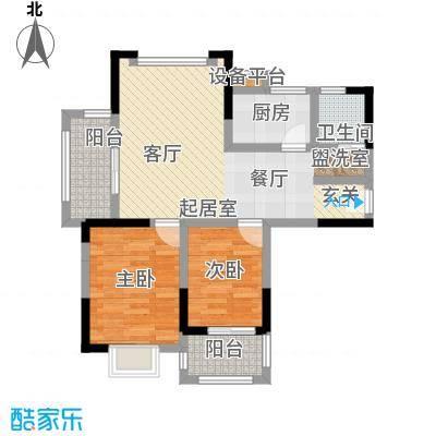 北宸新苑70.93㎡二期7、9、11号楼标准层F户型