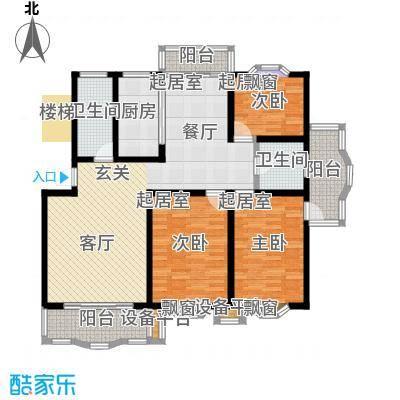 宏泰雅苑130.00㎡二期8、11号楼标准层D1户型