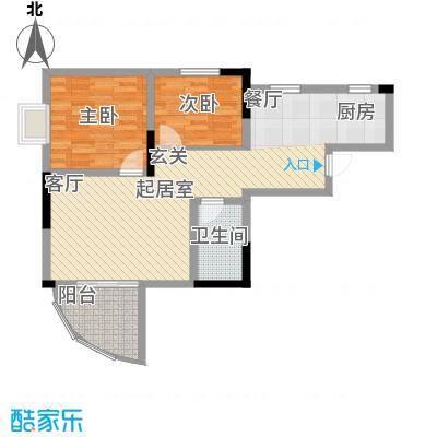 巴蜀怡苑70.90㎡B-21面积7090m户型