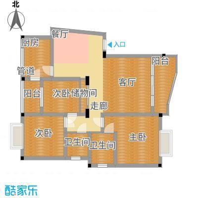 广厦城103.20㎡平层面积10320m户型