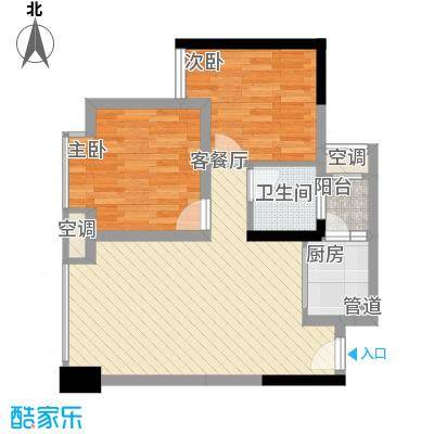 优派青年公寓55.00㎡面积5500m户型