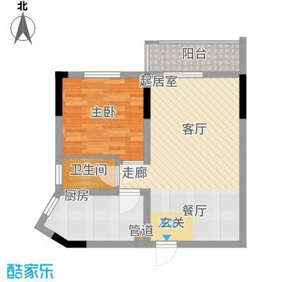 中伦香山美筑55.76㎡面积5576m户型
