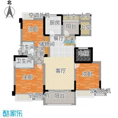 红豆香江豪庭138.00㎡一期1-5号楼标准层C1户型