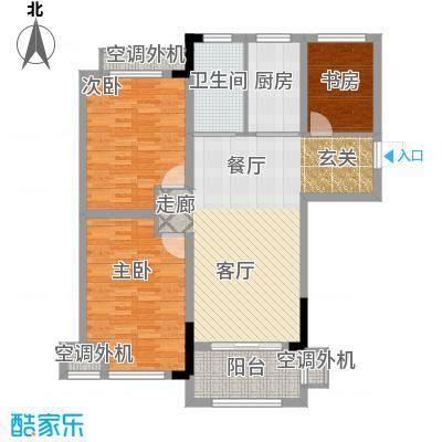 天淳江南106.00㎡一期1、3、5、7、8号楼标准层A2-2-2户型