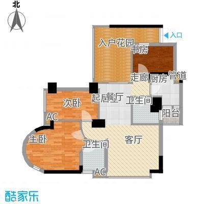 中天香悦华府98.06㎡1面积9806m户型