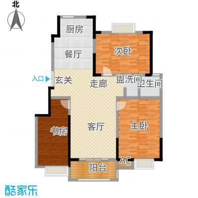爱涛天岳城118.00㎡一期1、2、3、6、8号楼B户型