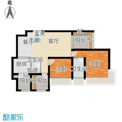 龙湖悠山香庭83.30㎡一期25号楼面积8330m户型