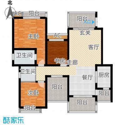 龙湖悠山香庭105.00㎡c7-2面积10500m户型