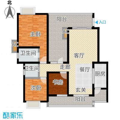 龙湖悠山香庭127.00㎡c4-2面积12700m户型