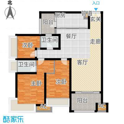 龙湖悠山香庭112.88㎡一期25号楼面积11288m户型