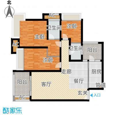 龙湖悠山香庭114.13㎡一期25号楼面积11413m户型