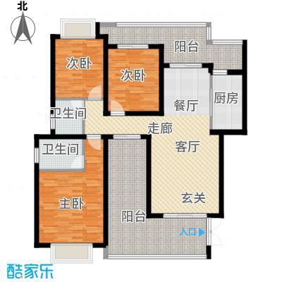 龙湖悠山香庭104.00㎡c4-4面积10400m户型