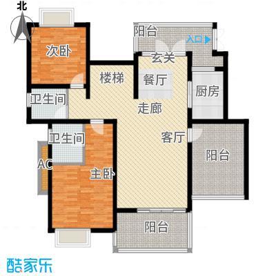 龙湖悠山香庭153.00㎡e6-1六层平面积15300m户型