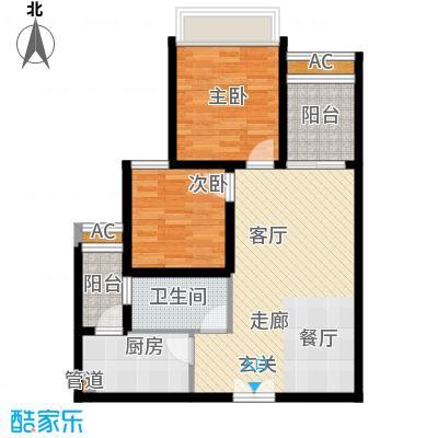 龙湖悠山香庭65.21㎡一期25号楼面积6521m户型
