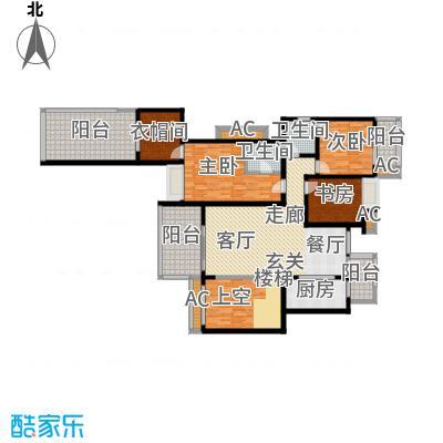 龙湖悠山香庭148.00㎡e1-2二层平面积14800m户型