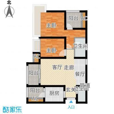 龙湖悠山香庭80.39㎡一期25号楼面积8039m户型