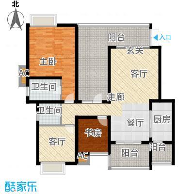 龙湖悠山香庭121.00㎡c5-2面积12100m户型