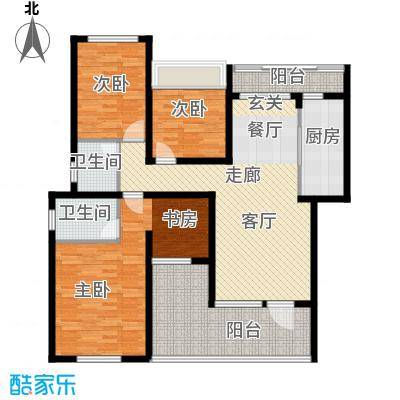 龙湖悠山香庭112.00㎡e1-6面积11200m户型