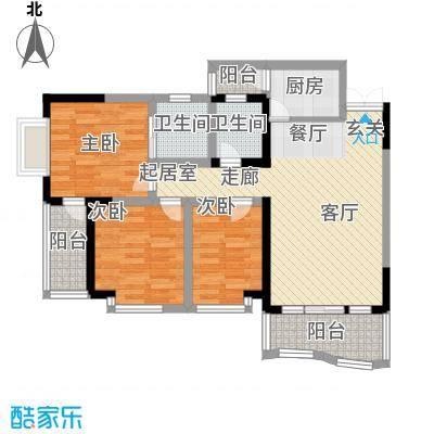 万友康年国际公寓80.48㎡面积8048m户型