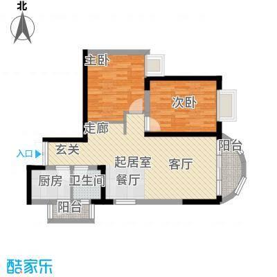 万友康年国际公寓68.02㎡面积6802m户型