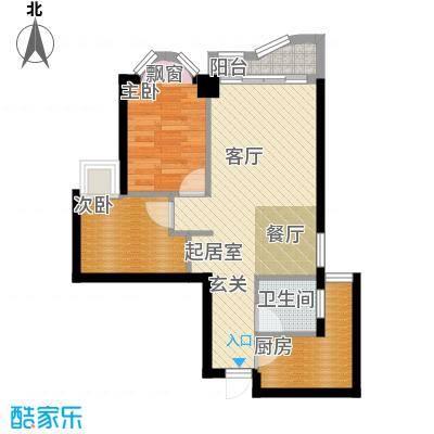 万友康年国际公寓55.06㎡面积5506m户型