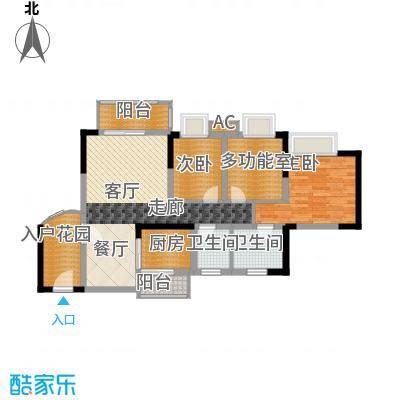 香逸半山88.80㎡8号楼A面积8880m户型
