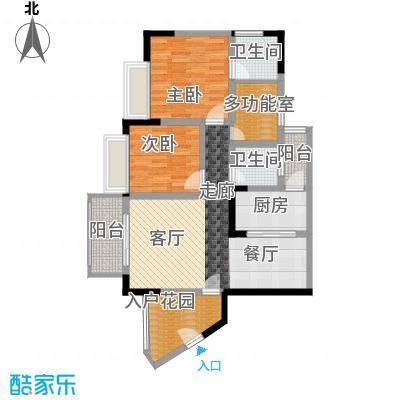 香逸半山77.80㎡8号楼C面积7780m户型