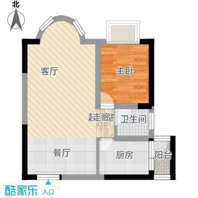 万友康年国际公寓40.53㎡面积4053m户型