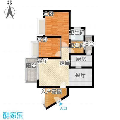 香逸半山73.39㎡9号楼C面积7339m户型