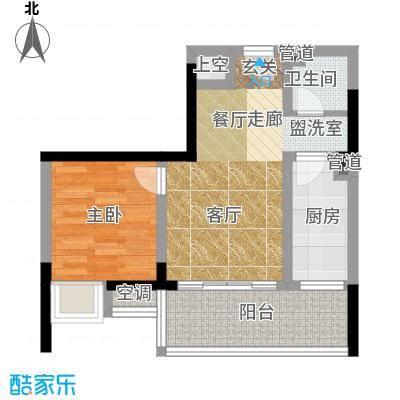 香堤花径48.19㎡一期2号楼标准层面积4819m户型