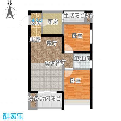 弘扬华城国际62.71㎡一期A2栋标面积6271m户型