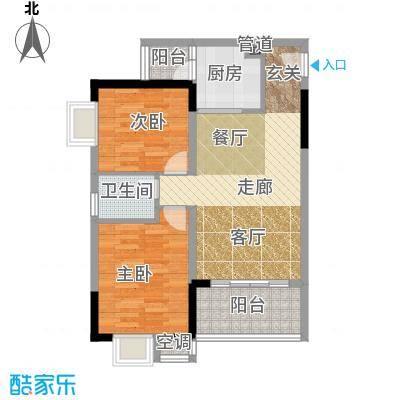 香堤花径63.21㎡一期1/2/3/4号楼面积6321m户型