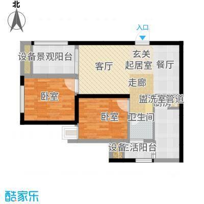 弘扬华城国际60.52㎡一期A2栋标面积6052m户型