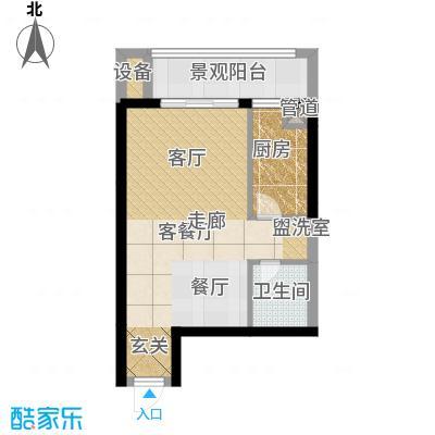 弘扬华城国际36.93㎡A1-1/5/6/1面积3693m户型