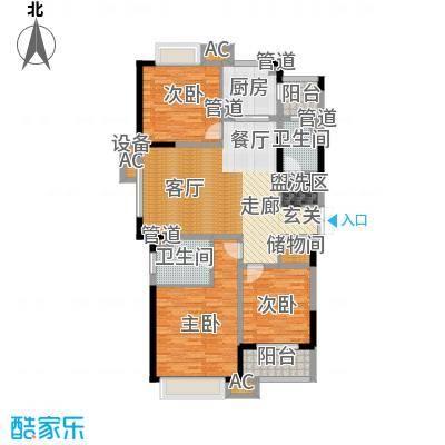 康利华府133.00㎡一期18、19、20幢标准层D1-1户型