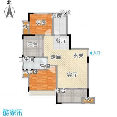 中宏万家广场115.00㎡一期7、9号楼标准层E户型