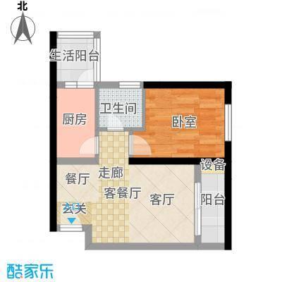 弘扬华城国际43.40㎡A-8面积4340m户型