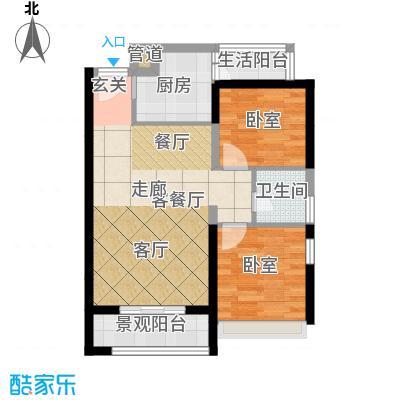 弘扬华城国际58.83㎡A-9面积5883m户型