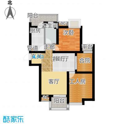 瑞丰花苑65.00㎡面积6500m户型