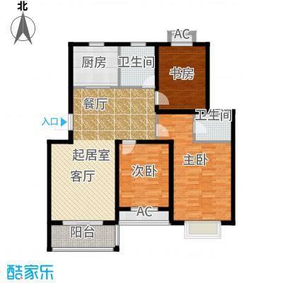 双富嘉园115.12㎡四期151、153、156、157号楼标准层B户型