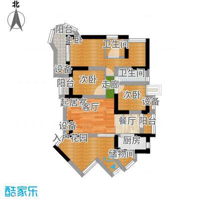 平安家园57.00㎡面积5700m户型