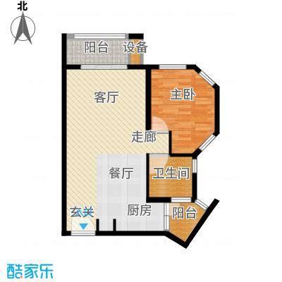 那香海国际旅游度假区69.56㎡二期22#、23#、35#、36#B1户型