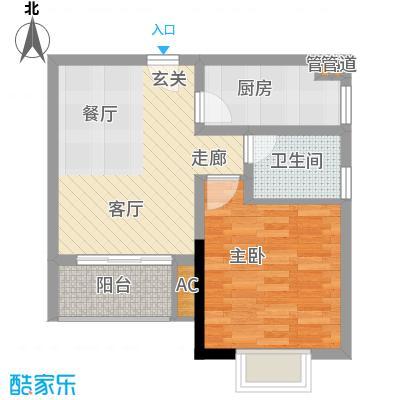 一城龙洲47.91㎡1315号楼E面积4791m户型