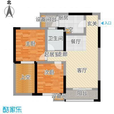亲和佳苑76.44㎡二期A栋标准层1面积7644m户型
