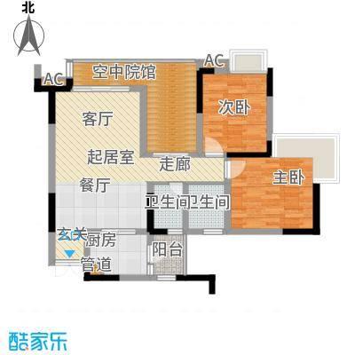 海尔海语江山78.45㎡一期11号楼面积7845m户型